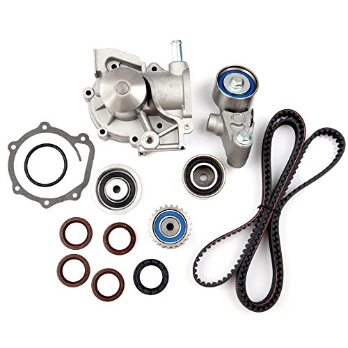 (SCITOO Timing Belt Water Pump Oil Seals Kit Fits 2000-2006 2.5L Subaru Legacy Outback Baja Non-Turbo H4 SOHC EJ25)