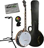 Gold Tone OB-150 Resonator Banjo w/ Hard Case, Geartree Cloth, Stand, and Tuner