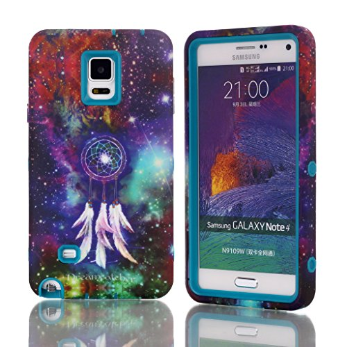 Galaxy Note 4 Case,Not 4 Case,Note 4 Hybrid Case,Note 4 Case Cover,Candywe Case For Samsung Galaxy Note 4,Cartoon Print 3in1 Design Hybrid Case Cover For Samsung Galaxy Note 4 004
