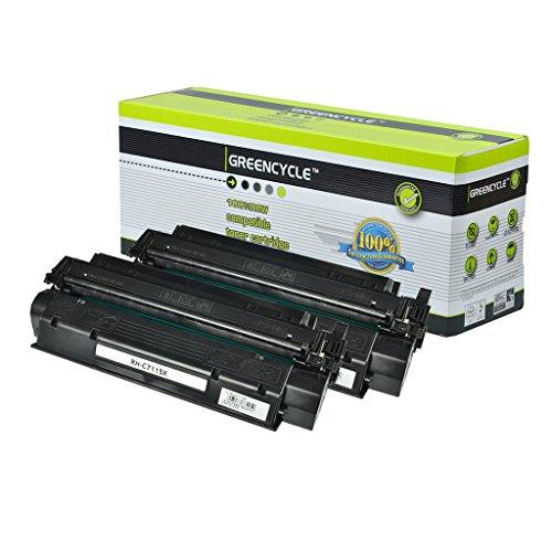 Printer 1200se (GREENCYCLE 2 Pack C7115X 15X Black Toner Cartridge Compatible for HP Laserjet 1200n 1200se Laser Printer)