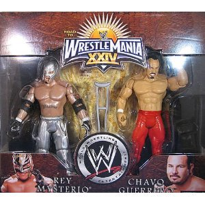 WWE Wrestlemania 24 Exclusive Series 1 Action Figure 2Pack Rey Mysterio Chavo Guerrero by WWE