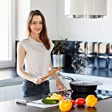 13'' Grease Splatter Screen for Frying Pan with Durable Fine Mesh Plus Set of Pan & Grill Scrapers - Food Grade Stainless Steel Cooking Splatter Guard Protects From Hot Oil and Keeps Kitchen Clean
