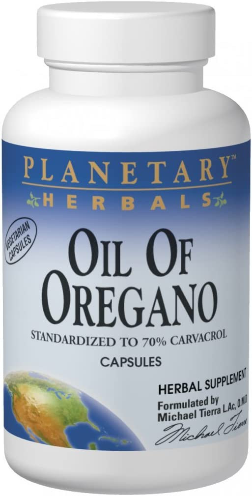 Planetary Herbals Oil of Oregano, May Provide Support To The Immune System,60 Vegetarian Capsules: Health & Personal Care