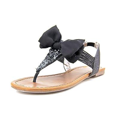 eaf46fd55da3 Material Girl Womens Swan 2 Split Toe Casual T-Strap Sandals