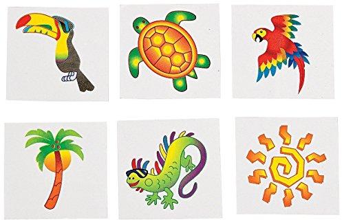 Fun Express Tropical Tattoos (6 Dozen) - Bulk