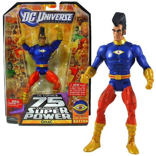 "Mattel Year 2010 DC Universe ""DC Comics 75 Years of Super Power"" Wave 15 Classics Series 6 Inch Tall Action Figure #2 - One Man Army Corps OMAC with Validus' Right Arm and Bonus Collector Button"
