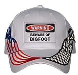 BEWARE OF THE BIGFOOT USA Flag / Checker Racing Hat [Apparel]