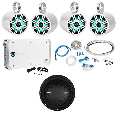 (4) KICKER LED Wakeboard Tower Speakers+Polk Audio 10