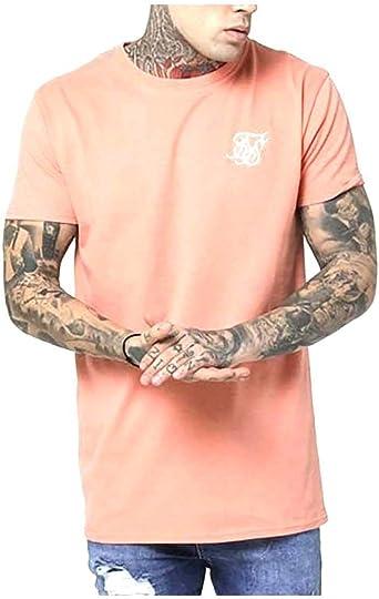 Camiseta Hombre Siksilk Peached Box Naranja XS Naranja: Amazon.es: Ropa y accesorios