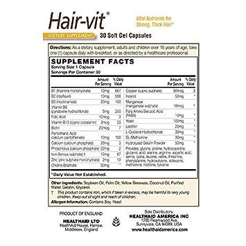 Amazon.com : Health Aid - Hair-Vit? - 30 Caps : Hair Regrowth Treatments : Beauty