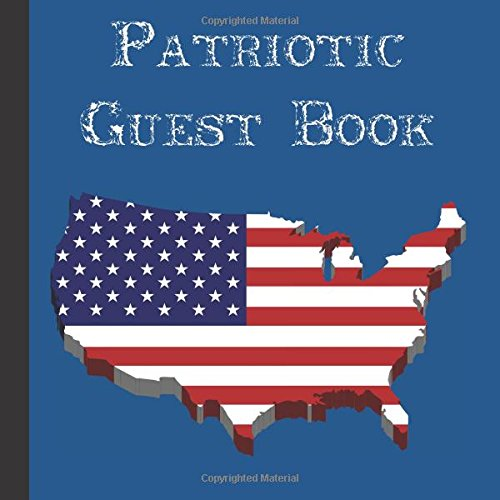 Cheap  Patriotic Guest Book: Beautiful Patriotic Guest Book