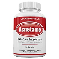 Acnetame 30 Ct Acne Pills- Supplements for Acne Vitamin Treatment- Tablets to Clear...
