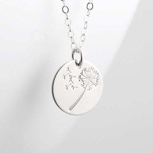 Dandelion Petal Pendant Necklace