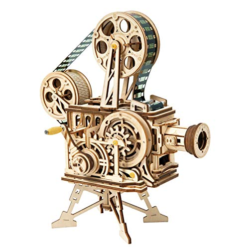 ROBOTIME 3D Wooden Puzzle for Adults DIY Vitascope Model Kits Unique Puzzle Gifts for Women and Men