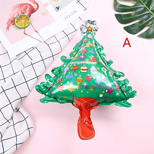Led Santa Claus - 1pc Mini Snowman Santa Claus Tree Foil Balloons Inflatable Air Balloon Merry Christmas Decoration - Hat Cowboy Sale Joy Santa Christmas Windmill Wreath Chrsitmas Decora -