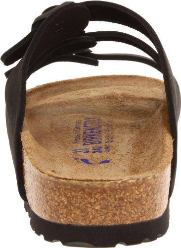 Birkenstock Women's Florida Soft Footbed Birko-Flor  Black Nubuck Sandals - 37 M EU / 6-6.5 B(M) US by Birkenstock (Image #2)