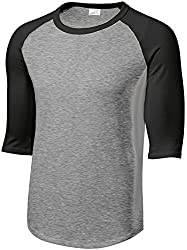 Mens or Youth 3/4 Sleeve 100% Cotton Baseball Tee Shirts-Youth XS to Adult 6X