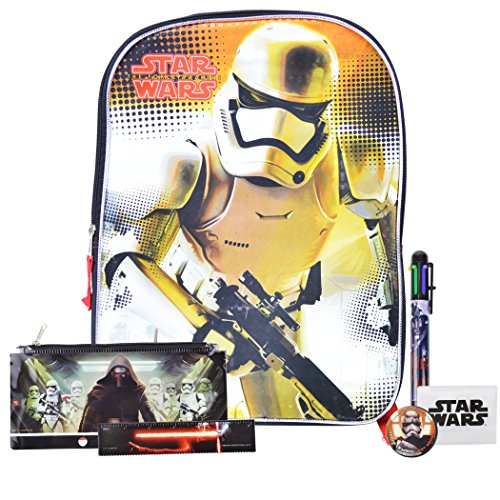 New Star Wars Toys From Episode 7 the Force Awakens Backpack and School Supplies (Mpt Players)