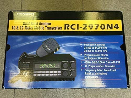 RCI 2970N4 DX AM-FM-SSB-CW 10 & 12 Meter Mobile Ranger Radio - Rci Accessories