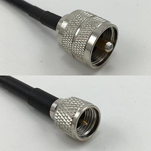 F Male to MINI UHF MALE Pigtail Jumper RF coaxial cable 50ohm Quick USA Shipping ()