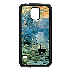 Impression soleil levant by Claude Monet Black Silicon Rubber Case for Galaxy S5 by Painting Masterpieces + FREE Crystal Clear Screen Protector
