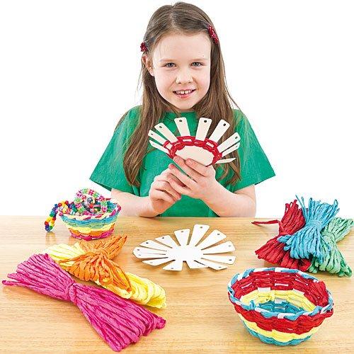 """Bastelsets """"Korbflechten"""" - für Kinder zum Basteln - Geschenkidee und Dekoration (4 Stück) Baker Ross"""