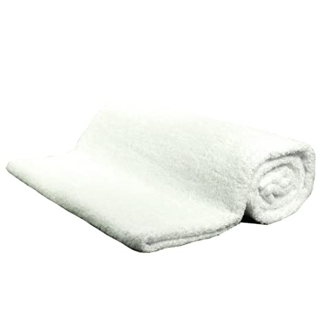 Saunatuch Weiß 80 x 200 cm Frottier Frottee Handtuch
