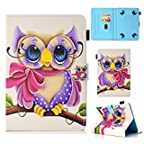 Uliking Uinversal Cases and Covers for All 9.5-10.5 Inch Tablet, F ire HD 10, iPad 9.7 Inch Case, Galaxy Tab S4 10.5 Inch Cover, SM-T830, SM-T590, Beauty Owl