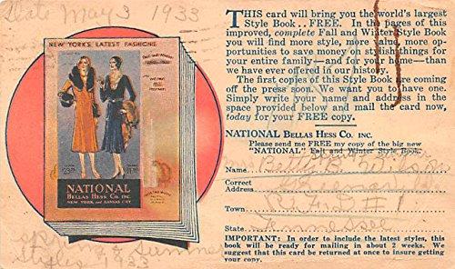 Natioanl Bellas Hess Co Inc Advertising Postcard