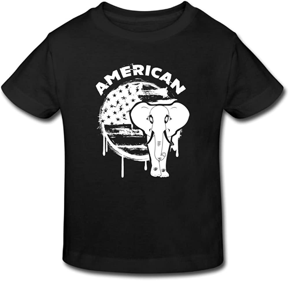 2-6 Years 2 Riokk Az Kids Short-Sleeve T Shirt Girls Boy Party American Elephant