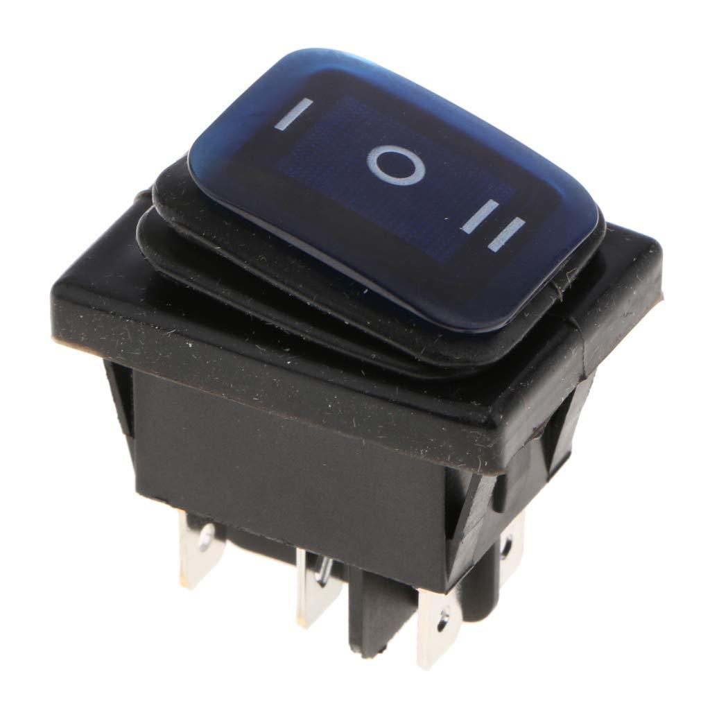 FLAMEER 5X LED Beleuchtet ON//Off//ON 6 Pin 3 Position//Kippschalter Bootschalter//Wasserdichter 6 Pin Wippschalter