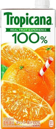 キリン トロピカーナ100% オレンジ 1L 紙パック 6本入×2まとめ買い