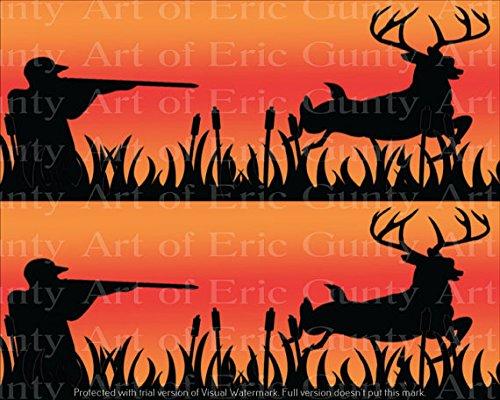 Fabulous Orange Deer Hunter Birthday Side Strip Edible Cake Party Personalised Birthday Cards Sponlily Jamesorg