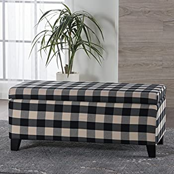 Amazon Com Twig Bird Ottoman Pouf In Black Buffalo