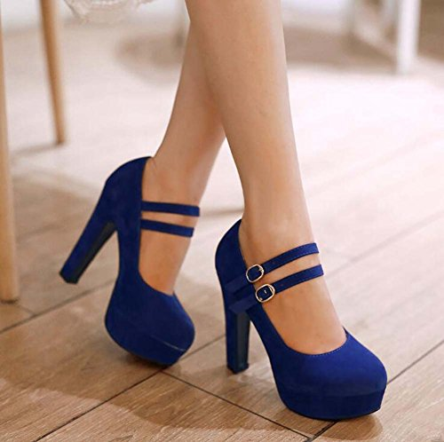 Zapatos de mujer Spring Summer Stiletto Heel para fiesta y noche Black Red Blue Beige Blue