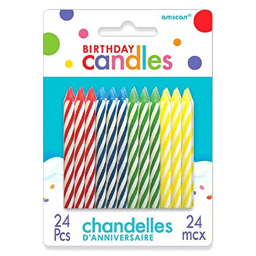 Spiral Birthday Candles | Pack of 24 | Birthday Candles | Party Supply