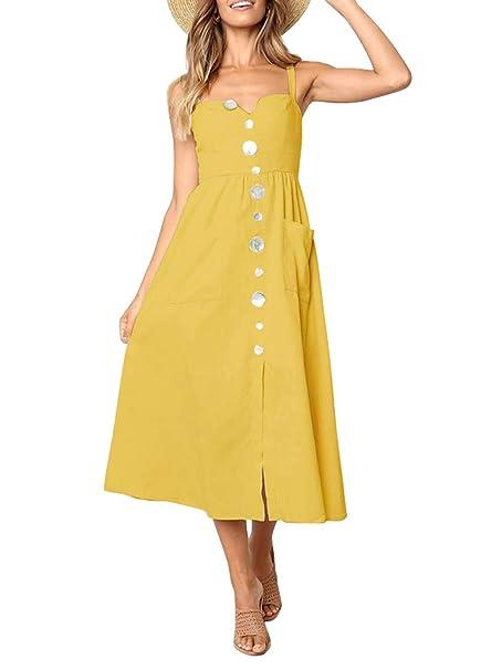 Amazon.com: CandyGifts - Vestido de playa casual para mujer ...