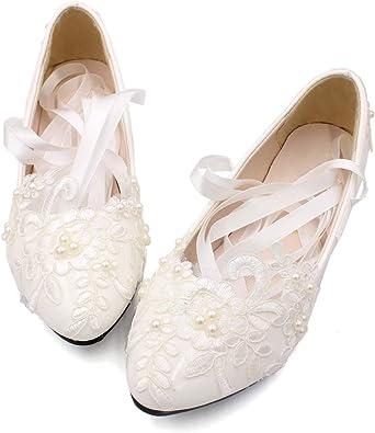Dress First Women's Strap Wedding Flat
