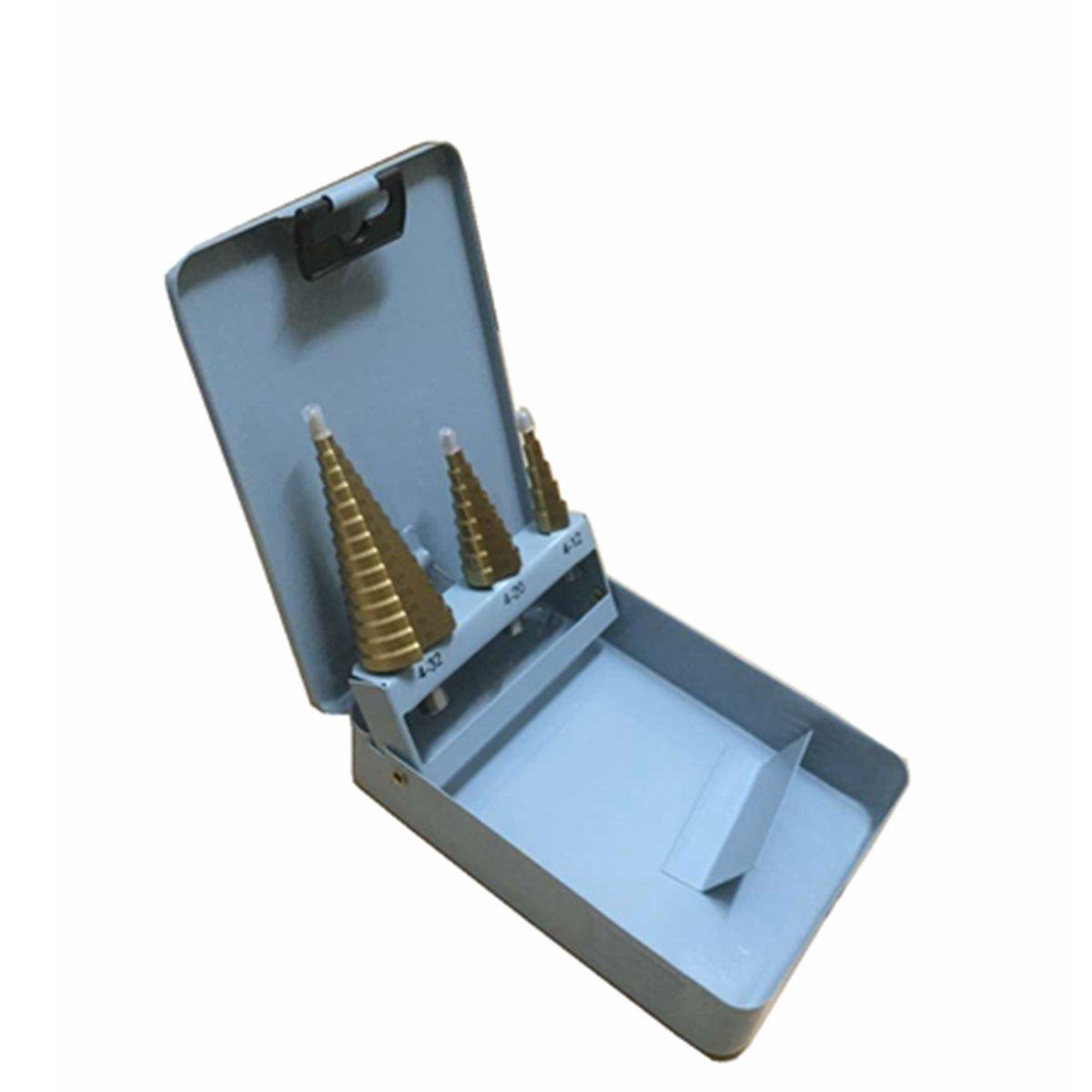 LEXPON Broca Escalonada HSS Hexagonal Revestido Poco Paso de Perforació n Establece 4-12 /4-20 / 4-32mm LEXPON.CO. LTD