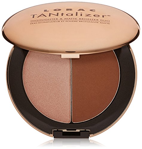 LORAC Travel-Size Tantalizer Highlighter and Matte Bronzer Duo, Bronze, 0.2 oz/6g