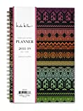 Nicole Miller for Blue Sky 2018-2019 Academic Year Weekly & Monthly Planner, Flexible Cover, Twin-Wire Binding, 5'' x 8'', Tribal Design