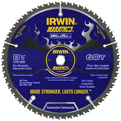 Dado Circular Saw - IRWIN Tools MARATHON WeldTec Circular Saw Blade, 8-1/2-inch, 60T (4935204)