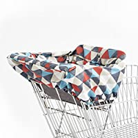 Skip Hop Compact 2-in-1 High Chair/Shopping Cart Cover, Triangles, Multi