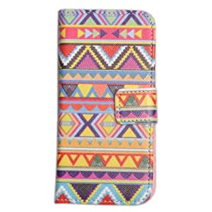 Einzige Slim Fit Leather Case Cover with Stand & Card Slot for Apple iPhone 5 5G with Free Universal Screen-stylus (Design 13)