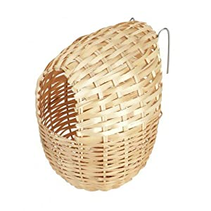 Kerbl Bamboo Nest for Exotic Birds, 12 x 11 cm
