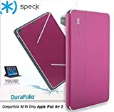 Speck Products DuraFolio Case and Viewing Stand for iPad Air 2 - Fuchsia Pink White Slate Grey