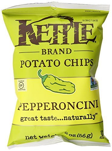 Kettle Brand Potato Chips, Pepperoncini, 2-Ounce Bags, (12 Count)