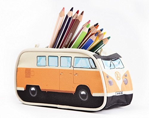 VW Volkswagen T1 Camper Van Pencil Case - Orange - Multiple Color Options Available