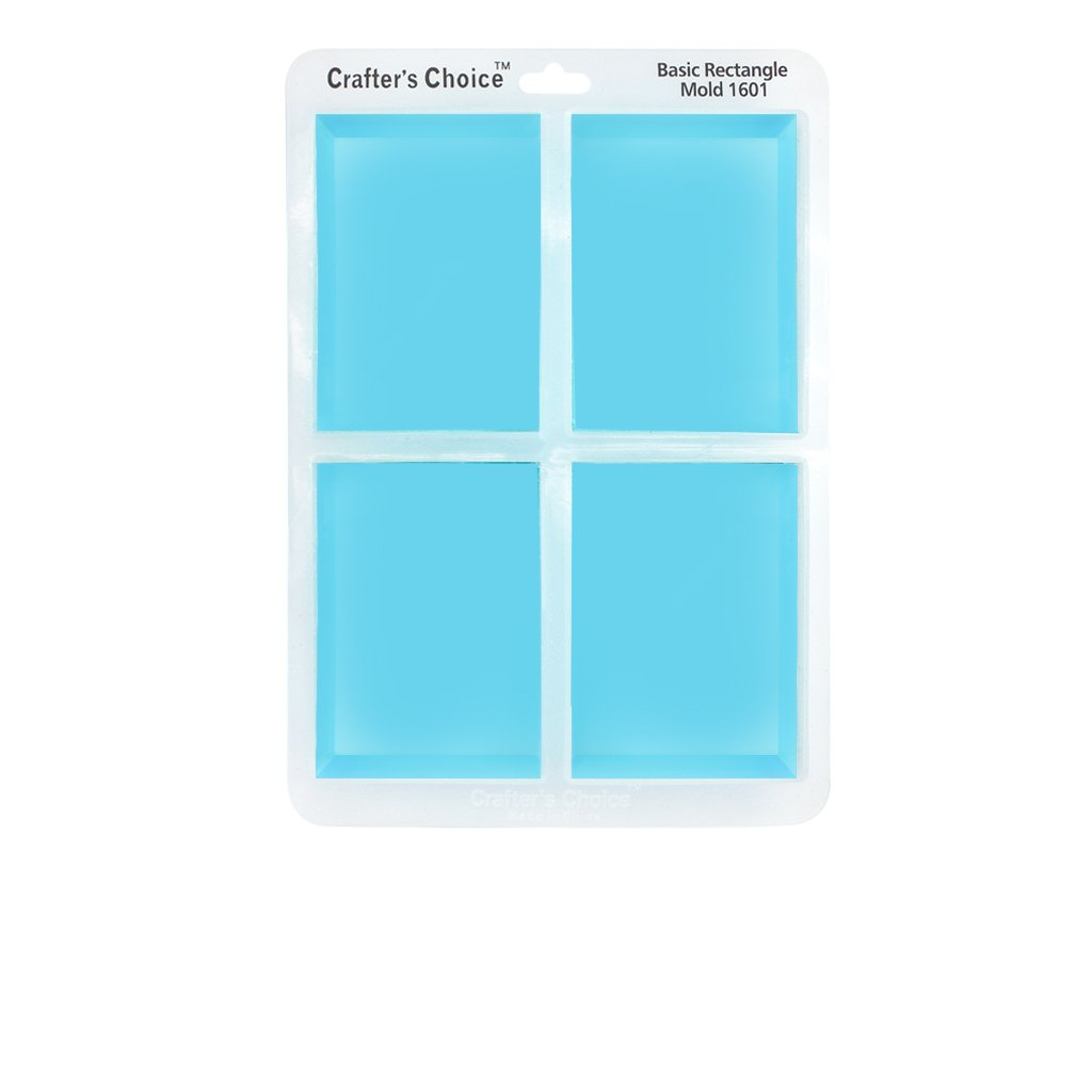 Silicone Soap Mold, GLOSSY Basic Rectangle 1601 by Crafter's Choice (Image #1)