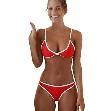 6542e58141e IEason Women Swimwear Beach Bikini Set Push-up Padded Bra Bathing Suit  Swimsuit (US